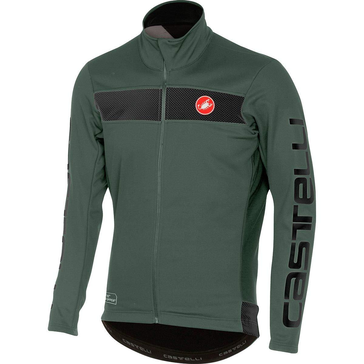 Castelli Raddoppia Jacket - Men's Forest Gray, L