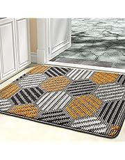 """Color&Geometry Doormat, Indoor & Outdoor Entrance Mat Geometric Patterns Waterproof Front Door Mat Outside Effective Scraping of Dirt, Non Slip Washable (24""""x36"""", Grey)"""