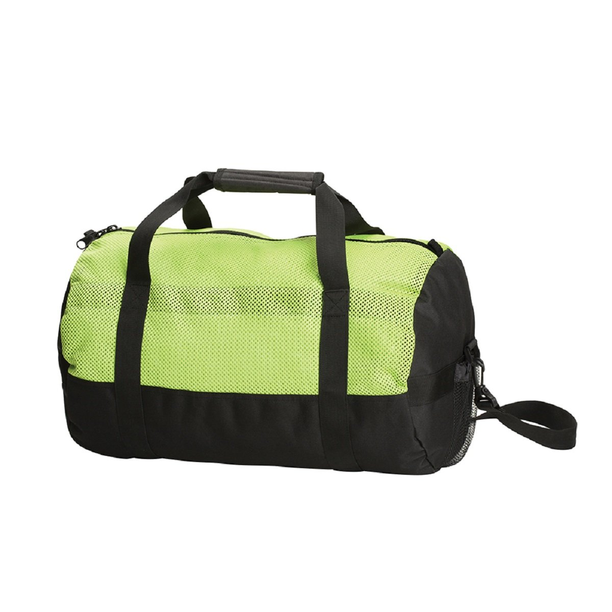STANSPORT MESH TOP ROLL BAG - 12 IN X 20 IN - GREEN/BLACK, Case of 12 by DollarItemDirect