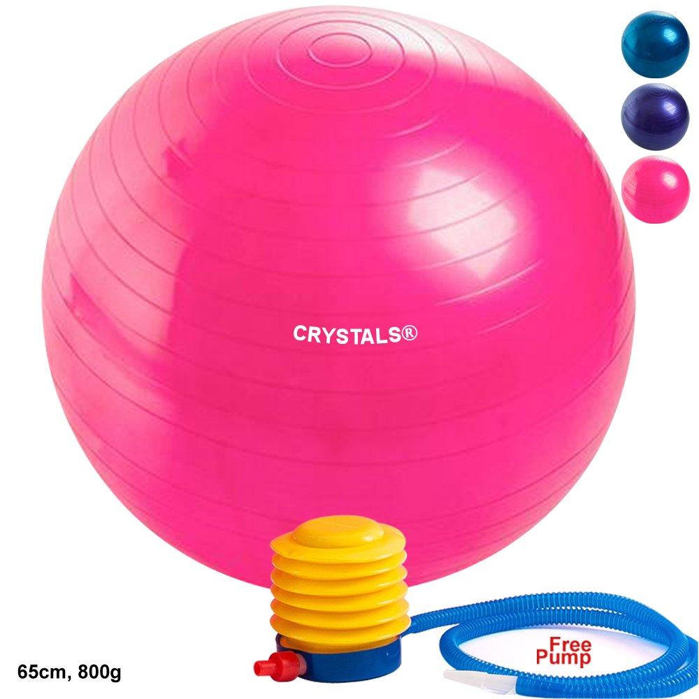 Crystals 65 cm ANTI BURST Yoga pelota de gimnasia para el embarazo ...