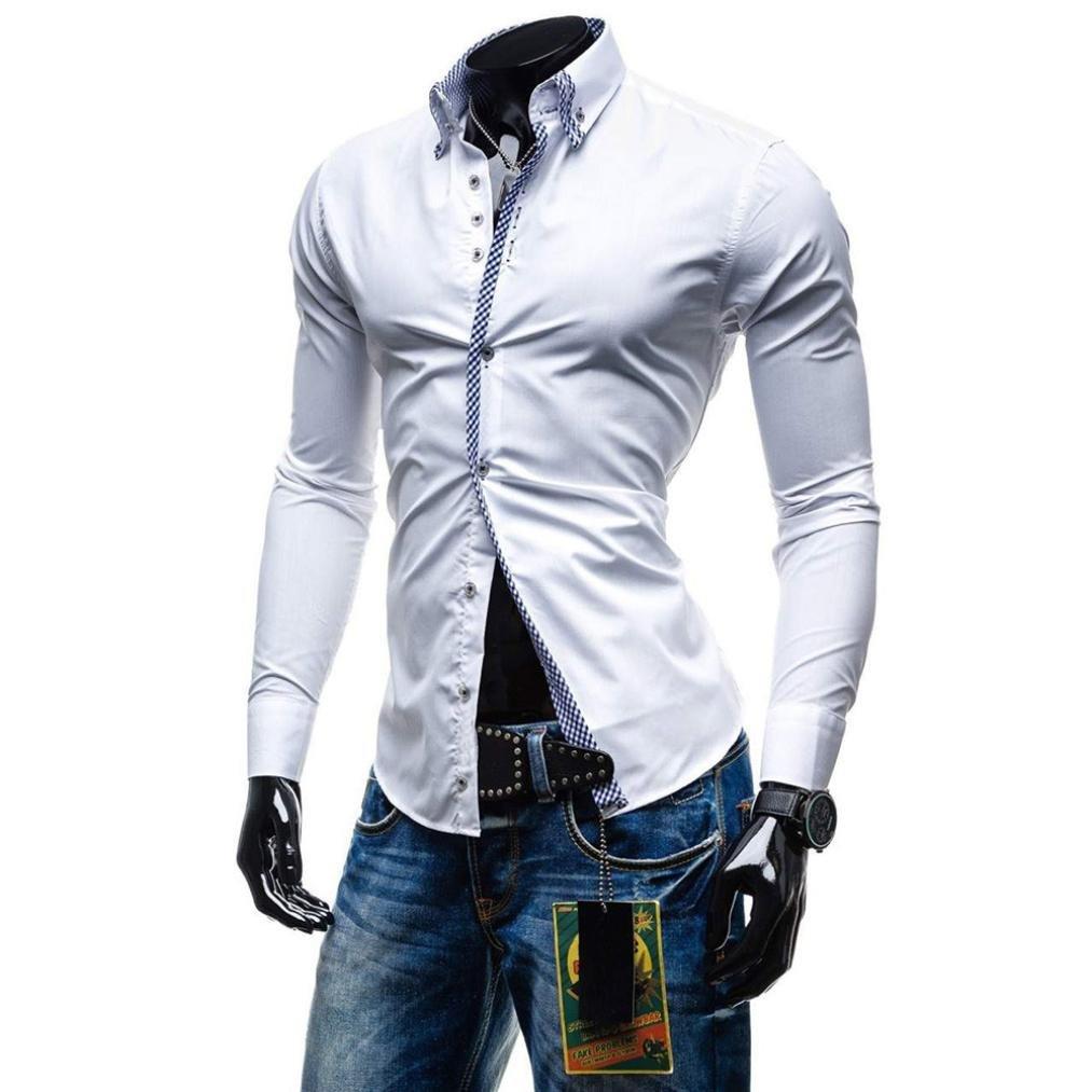 Amazon.com: Longra - Camisa de manga larga para hombre ...