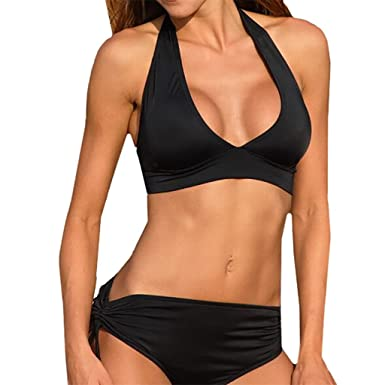 Waooh - Bikini Ausschnitt Haurcar - SCHWARZ, ONESIZE (36 und 40)
