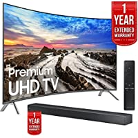 Samsung UN55MU8500FXZA 54.6 Curved UHD Smart LED TV 2017 + Soundbar Extended Warranty