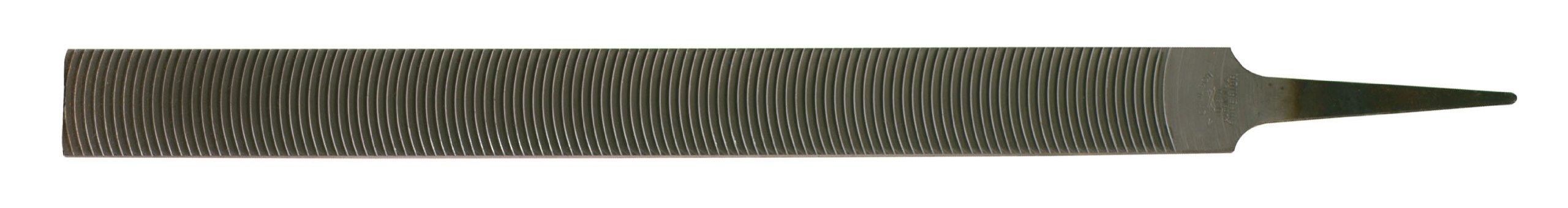 Nicholson Flat Utility Hand File, Standard/Smooth Pattern, Curved Cut, Rectangular, 12'' Length