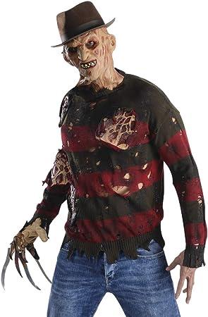 Horror-Shop Freddy Krueger suéter con Cicatrices de Quemaduras XS ...