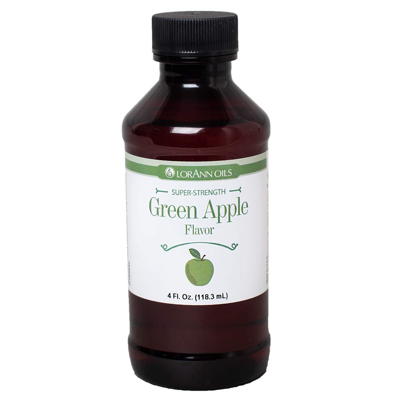 LorAnn Green Apple Super Strength Flavor, 4 ounce bottle