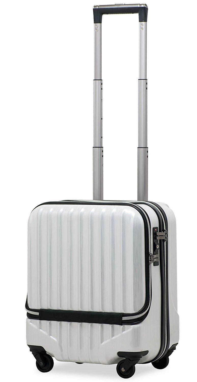 【JP-Design】スーツケース 機内持込 軽量 フロントオープン ダブルキャスター 8輪 【W-Receipt】 ハードキャリー ダブルファスナータイプ キャリーケース キャリーバッグ 前ポケット B01N6XZKCS SS-33L-スクラッチ/シャンパン SS-33L-スクラッチ/シャンパン