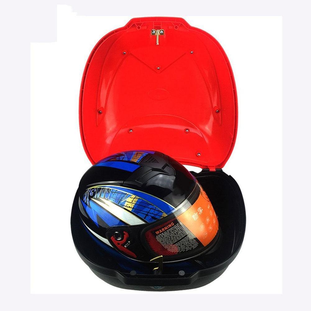 Motorrad Top Case Motorrad Koffer Tasche Universell Motorrad Hecktasche Helm Fall PP Motorrad Koffer Gro/ße Kapazit/ät Sto/ßfest Top Case f/ür Die Meisten Motorr/äder