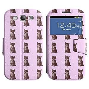 LEOCASE Verdadero Gato Funda Carcasa Cuero Tapa Case Para Samsung Galaxy S3 I9300 No.1000712