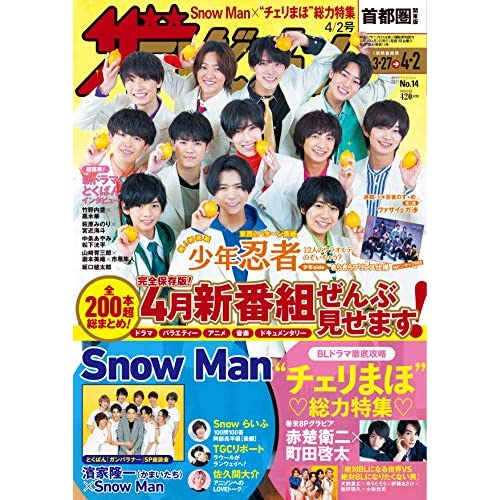 ザテレビジョン 2021年 4/2号 表紙画像