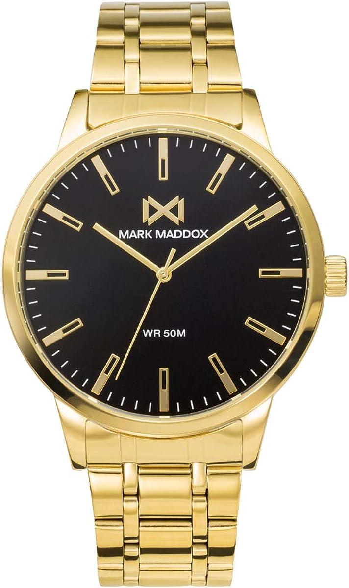 MARK MADDOX - Reloj Acero IP Dorado Brazalete Sr Mm - HM7140-57