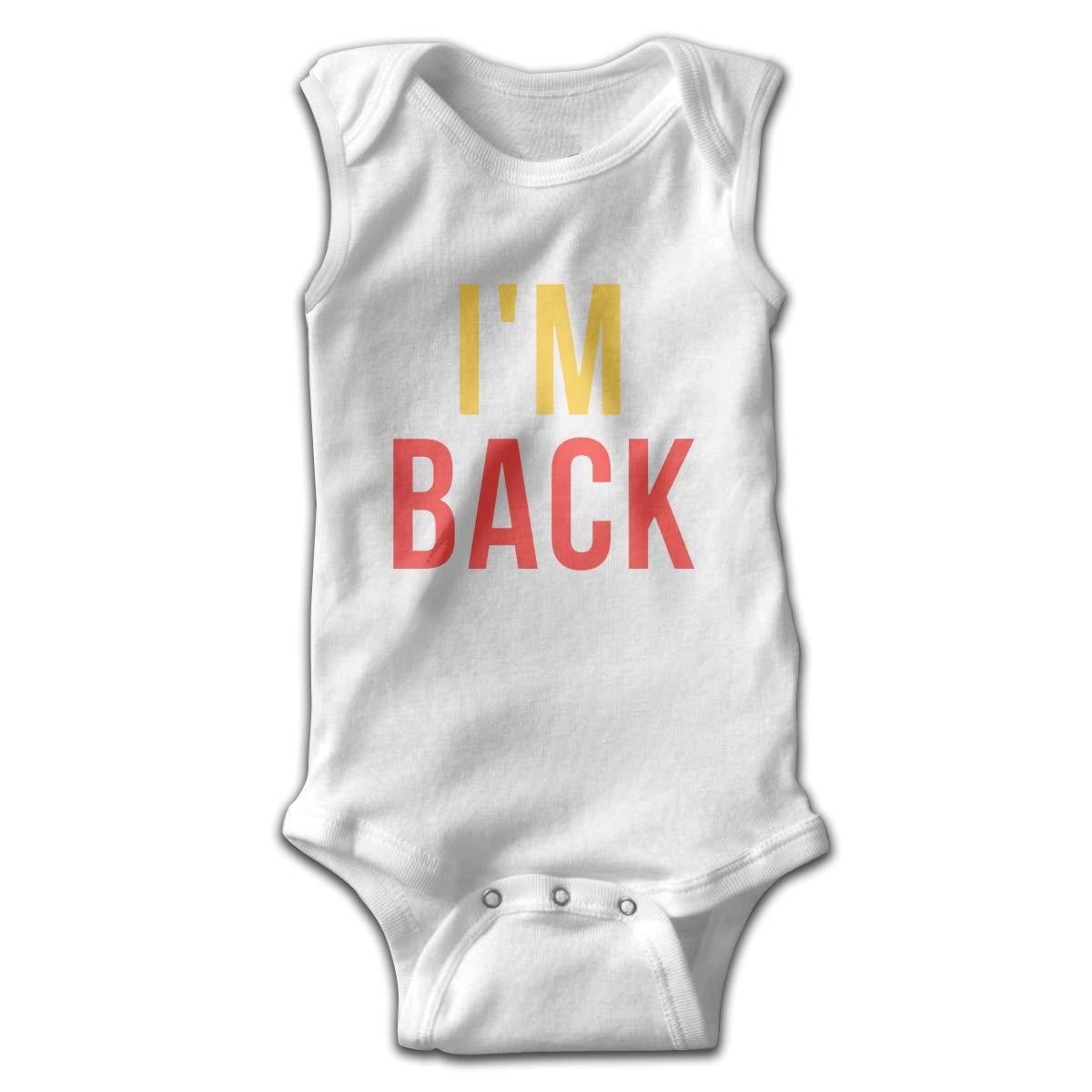 Efbj Newborn Baby Boys Rompers Sleeveless Cotton Jumpsuit,Im Back Bodysuit Winter Pajamas