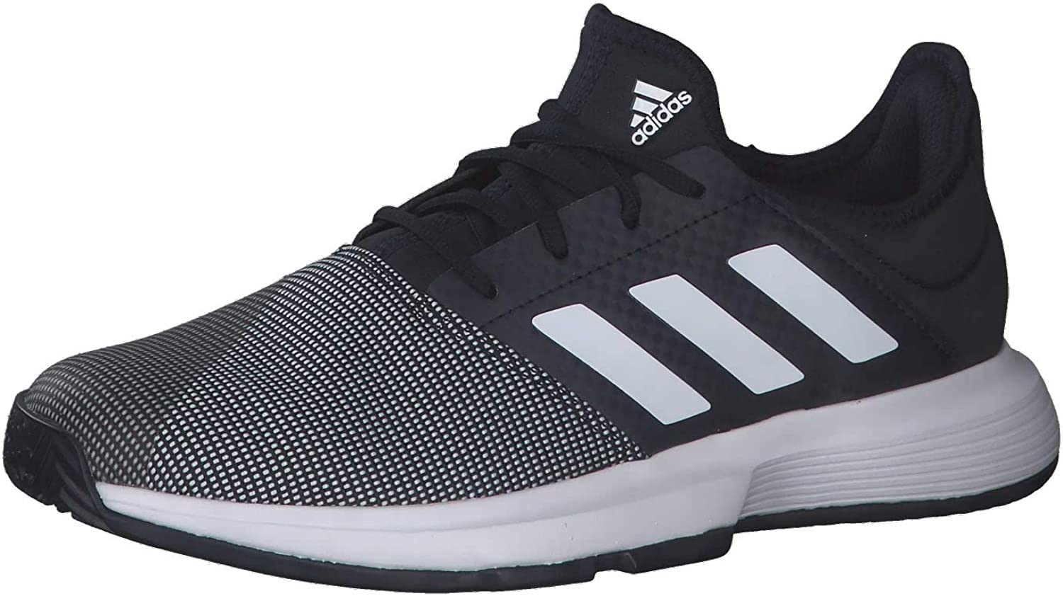 adidas Mens GameCourt Tennis Shoes Black Sports Breathable Lightweight