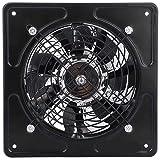 Ventilador de Escape de 15 cm para Montar en la Pared, ventilación súper silenciosa con Motor de Cobre para el hogar, baño, Cocina, Garaje, ventilación de Aire (Black)