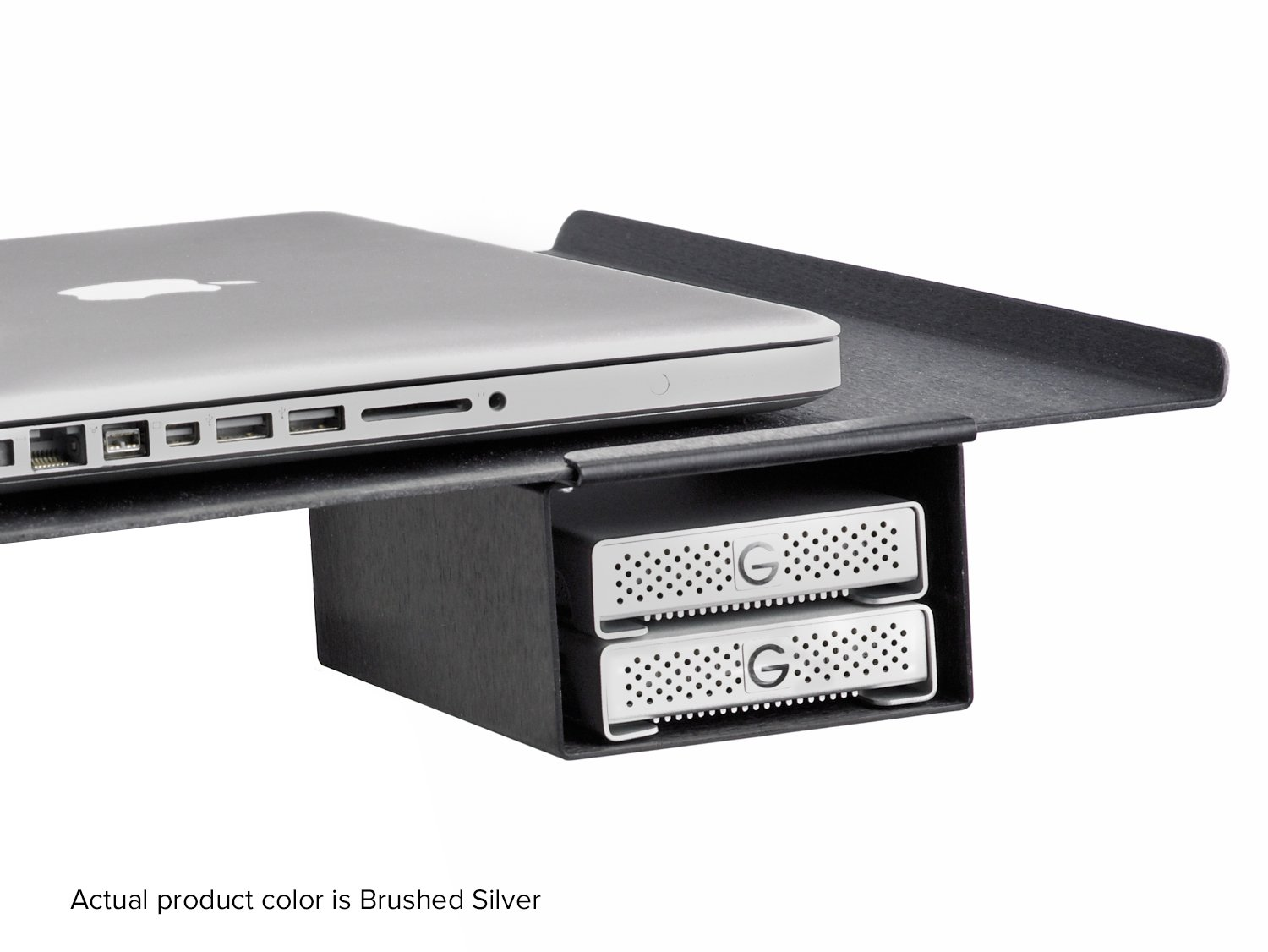 Tether Tools Aero XDC Duo External Drive Compartment - Brushed Silver