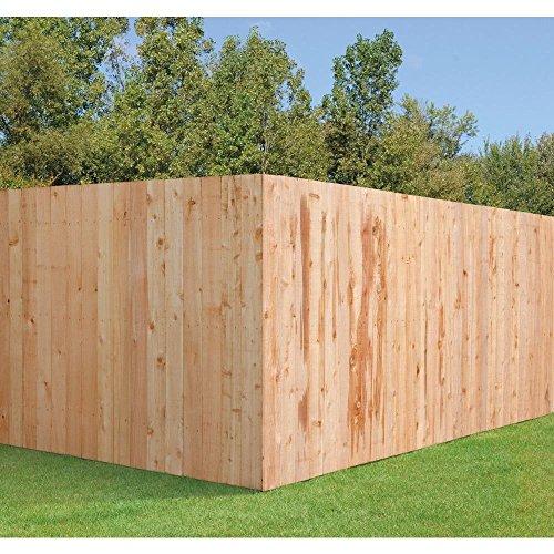 In ft western red cedar flat top fence