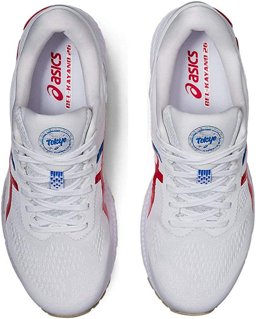 ASICS Womens Gel-Kayano 26 Running Shoes, 11.5M, White/Classic RED: Amazon.es: Zapatos y complementos
