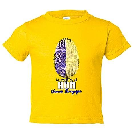 Camiseta niño lo tengo en mi ADN Zaragoza fútbol - Amarillo ...