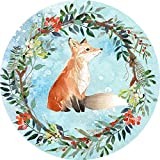 fox mouse pad - Vintage Floral Fox Customized Non Slip Rubber Round Mouse Pad