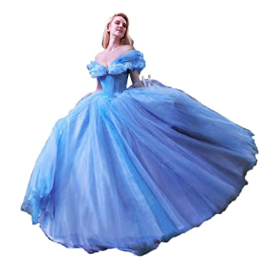 91ecf624f3e Vnaix Ball Gown Royal Blue Princess Cinderella Quinceanera Dresses ...