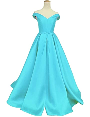 Duraplast Womens Prom Dresses Long Off The Shoulder Princess Ball Gown