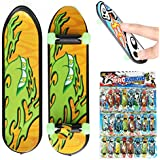 "ZUINIUBI 24pcs 3.94"" Mini Skateboard Teach Deck Fingerboards Luminous Bearing Wheel Kids Toy Gift"