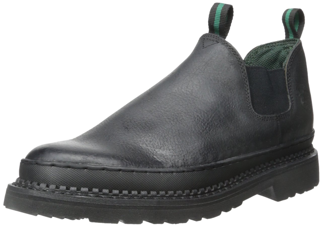 Georgia Boot Men's Gr270 Giant Romeo Work Shoe Black, 7.5 M US