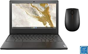 Lenovo 11.6inch Chromebook, Intel Celeron N4020 Dual-Core Processor, 4GB RAM, 32GB eMMC SSD, WiFi, Bluetooth, Chrome OS with Mouse(Renewed)