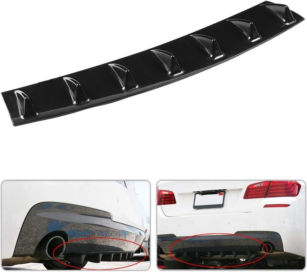 Spoiler paraurti posteriore EVGATSAUTO S diffusore a labbro per ala alettone paraurti posteriore telaio auto universale