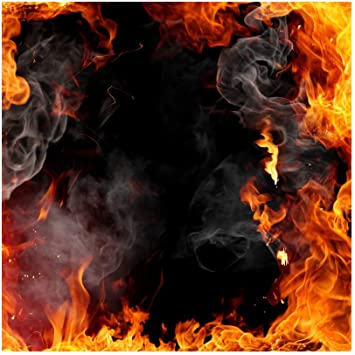 Amazon Com Baocicco 4x4ft Roaring Fire Backdrop Wallpaper Decor Passion Flame Frame Smoke Black Background Photography Background Vlogger Bonfire Party Birthday Party Baby Children Adults Portrait Prop Camera Photo