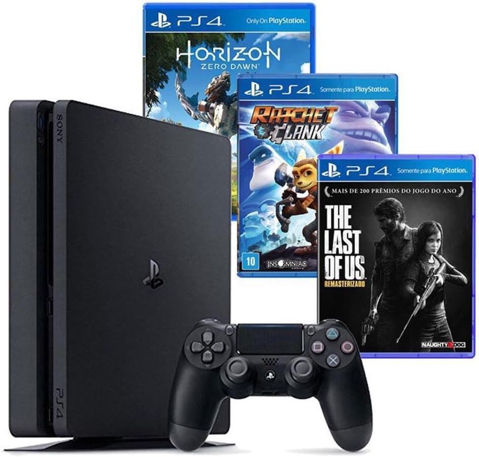 Console Playstation 4 500gb + 3 Jogos Diversos
