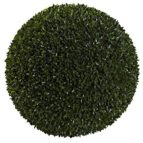 Nearly Natural Boxwood Indoor/Outdoor Ball, 19'' by Nearly Natural