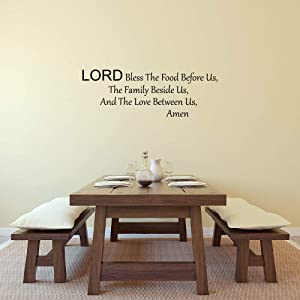 Vinyl Wall Art Decal Lord Bless This Food 10