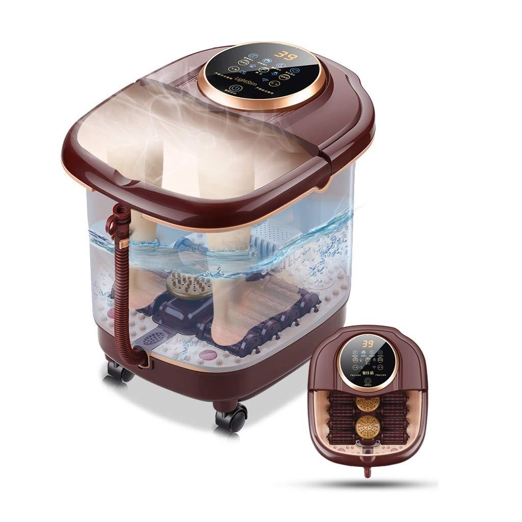 温浴、マッサージローラー、泡、デジタル調節可能な温度制御付きフットスパマッサージ B07L3ZJ99S