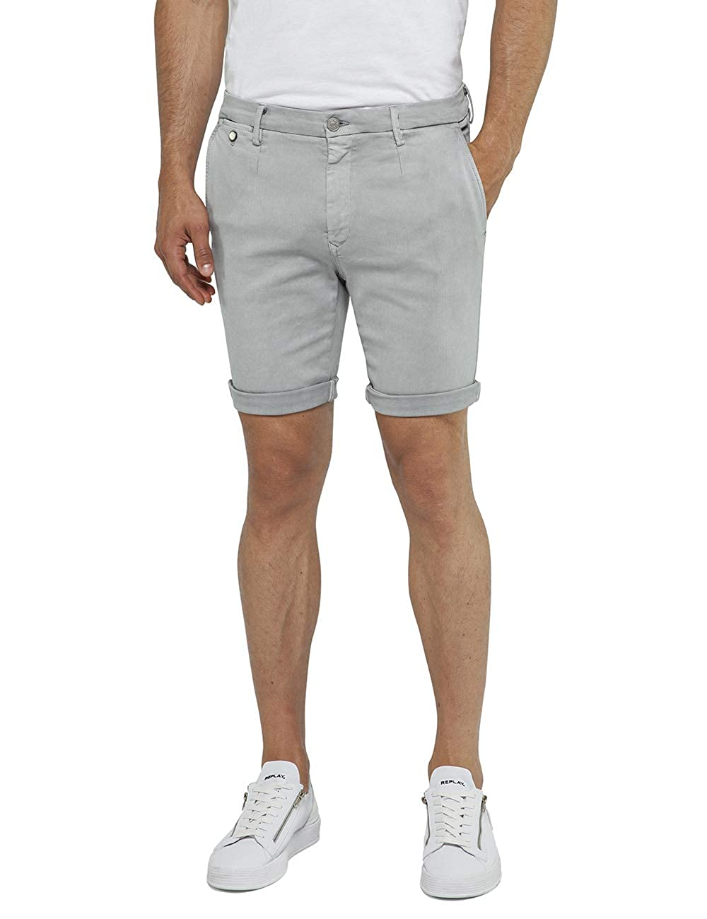 TALLA W36 (Talla del fabricante: 36). REPLAY Lehoen Short Pantalones Cortos para Hombre