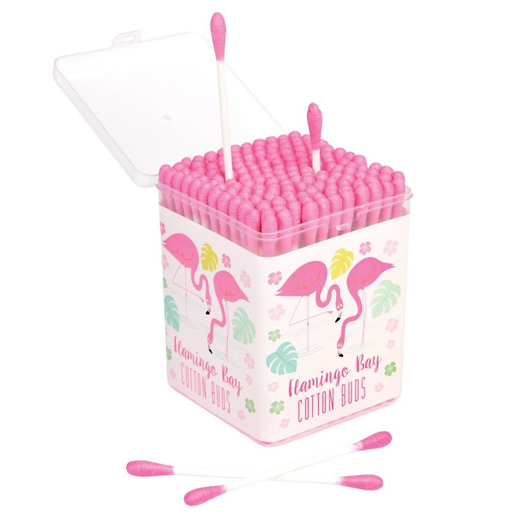 150 Cotton Buds in Gift Box - Choice of Design (Flamingo Bay) Rex International Ltd