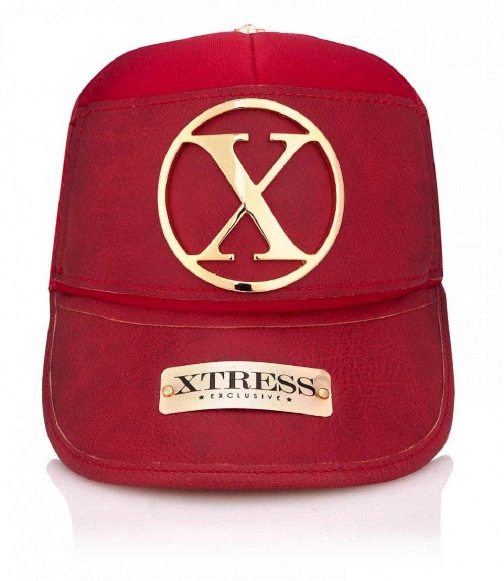 Xtress Exclusive Gorra roja de Cuero para Hombre y Mujer.: Amazon.es: Deportes y aire libre