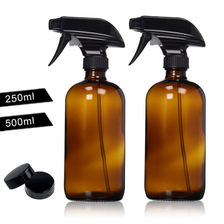 f8c4f74fb958 Amazon.com : 16oz Empty Amber Glass Spray Bottles For Essential Oils ...