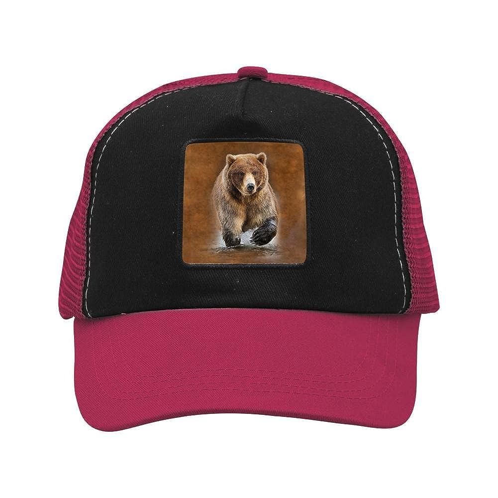 Nichildshoes hat Mesh Caps Hats for Men Women Unisex,Print Bear in The River