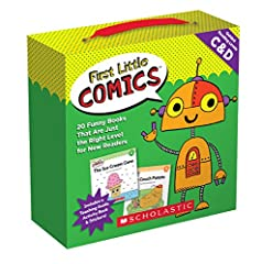 Jumpstart your child's reading success with comics! Kids will love these laugh-out-loud books with very easy text in speech balloons. They'll also adore the zany cast of characters: monsters, bears, talking crayons, pirates, dinosaurs,...