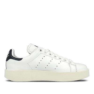 adidas Originals Women's Stan Smith W Fashion Sneaker, Black/White/Navy 8   Shoes