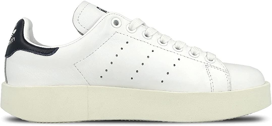 adidas Originals Womens Stan Smith Bold Casual Leather Lace Up Trainers Green