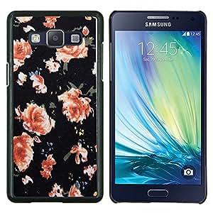 TECHCASE---Cubierta de la caja de protección para la piel dura ** Samsung Galaxy A5 ( A5000 ) 2014 Version ** --Wallpaper Roses Naranja Rosa
