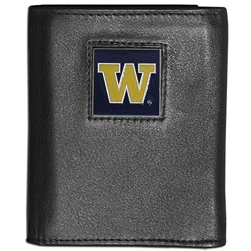 Siskiyou NCAA Washington Huskies Deluxe Leather Tri-fold Wallet