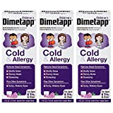 Dimetapp Children's Cold and Allergy Grape - 4 oz, Pack of 3