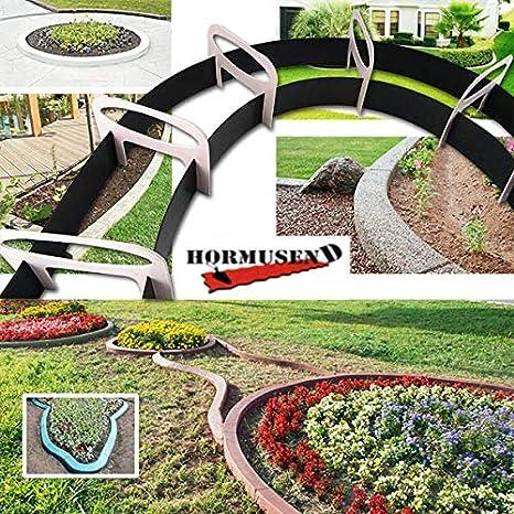 Hormusend - Molde de plástico elástico para hormigón, diseño de Flores: Amazon.es: Jardín