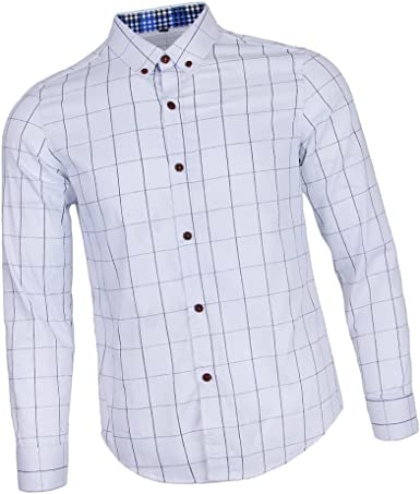 Sharplace Camisa Manga Larga Causal Algodón Clásica Impresión Cuadros Hombre Clásica Impresión Cuadros Hombre: Amazon.es: Ropa y accesorios
