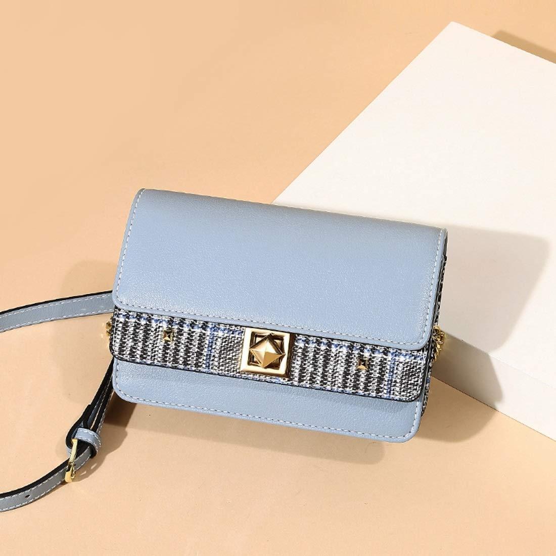 Color : Pink Carriemeow Spring and Summer Contrast Color Small Square Bag Shoulder Messenger Bag Female Bag Small Bag