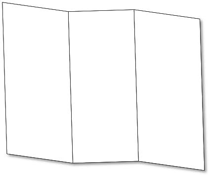 amazon com blank bright white tri fold brochure card stock 65lb
