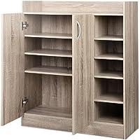 Artiss 2 Doors Shoe Cabinet Storage Cupboard - Wood